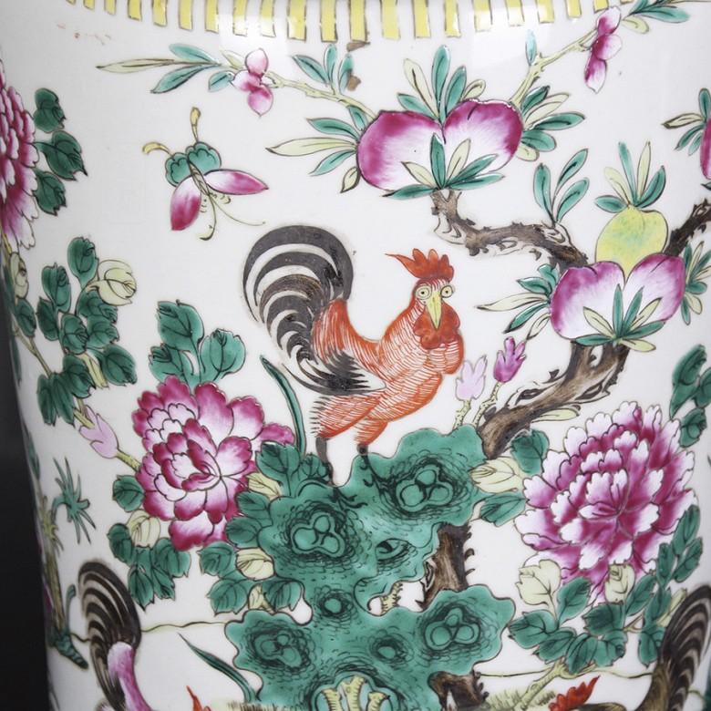 Gran jarrón de porcelana china siglo XIX. - 1