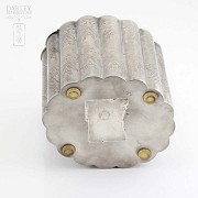 Silver plated cigar case - 4