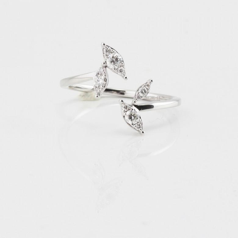 Original anillo oro blanco 18k y diamantes - 3