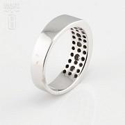 Precioso anillo diamantes 0.46cts y oro blanco 18k - 3