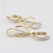Fantastic diamond earrings 0.70cts - 2