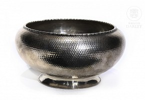 Chinese 925 silver brazier, 20th century