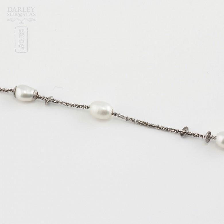Pulsera en plata y perlas - 3