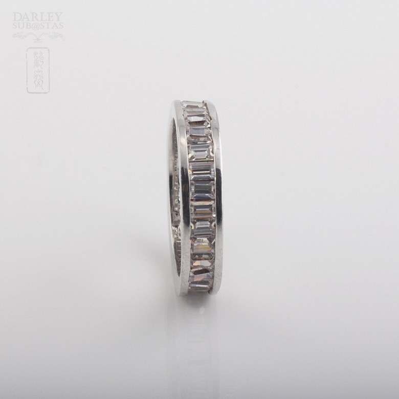 Ring with Zirconia in sterling silver, 925 - 2
