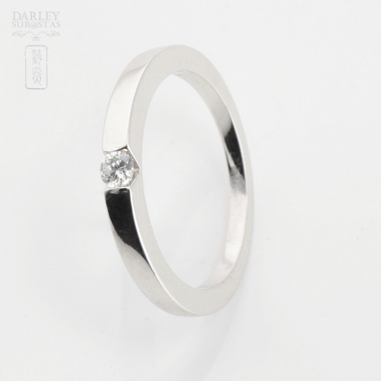 0.12cts Solitaire Diamond 18k White Gold - 2