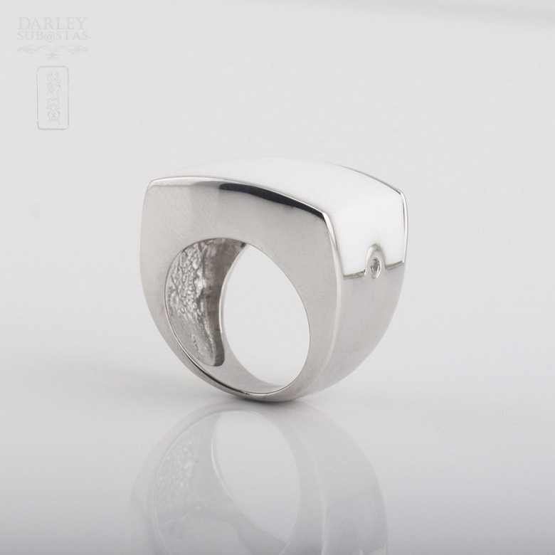 Porcelain ring in sterling silver 925m / m - 2