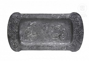 Art Nouveau pewter tray, pps.20th century