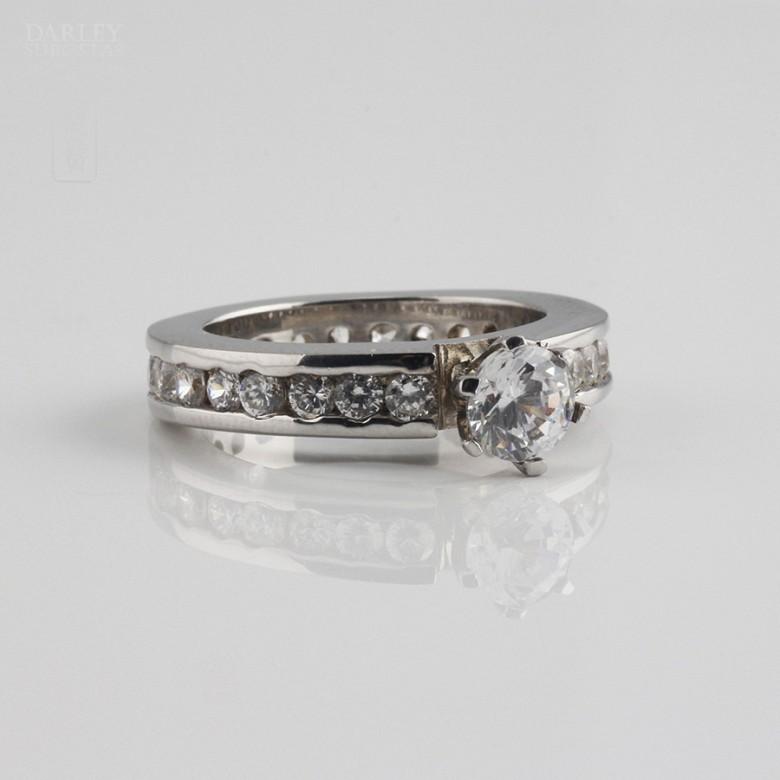 Ring Zircons in Sterling Silver, 925 - 2