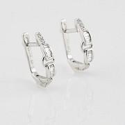 Pendientes oro blanco y diamantes 0.28cts - 1