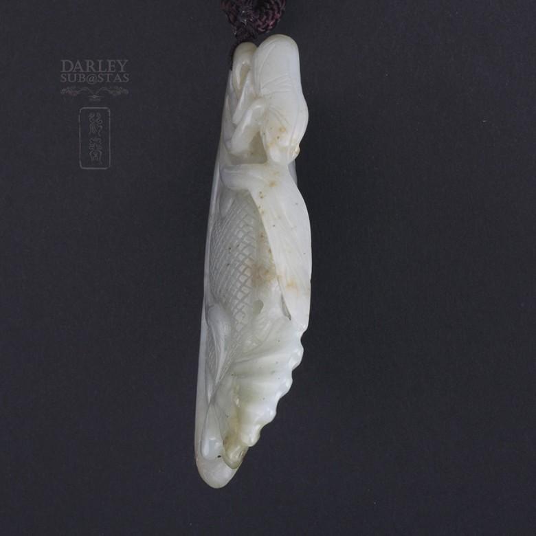 Precioso Jade forma de pez - 2