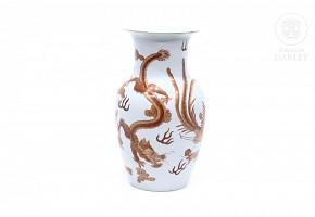 Jarrón de porcelana china, s.XX