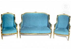 Louis XVI style triplet. 20th century