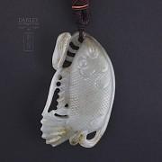 Precioso Jade forma de pez