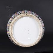 Gran jarrón de porcelana china siglo XIX. - 3
