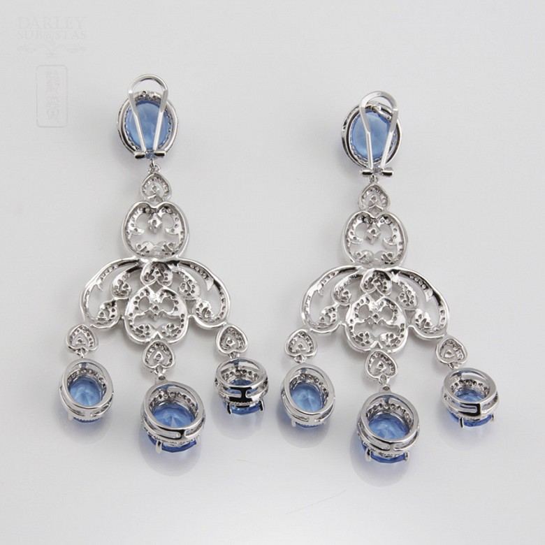 Faller blue dressing and rhodium plated - 9