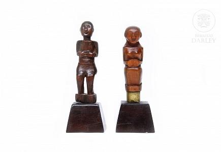 Dos empuñadura de Kris, Indonesia, s.XIX-XX