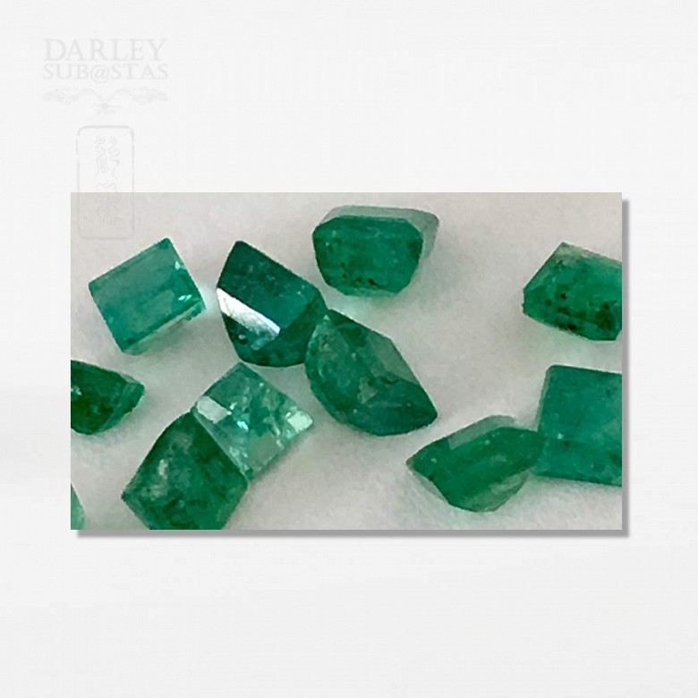 Lot emeralds Colombian