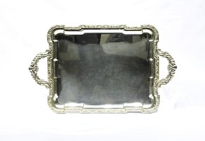 Silver tray, med.s.XX