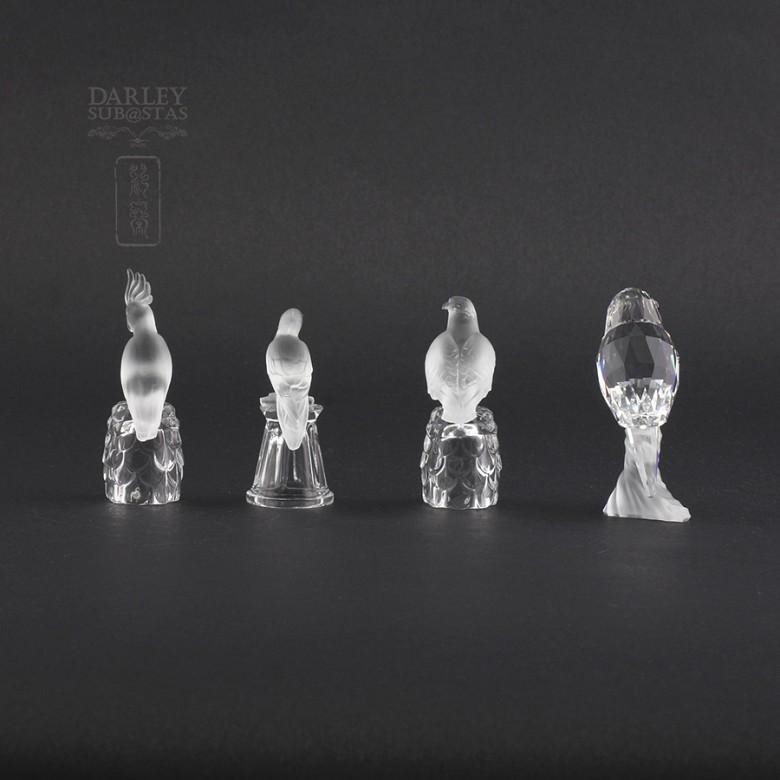 Set of four figures of birds in Swarovski Crystal - 6