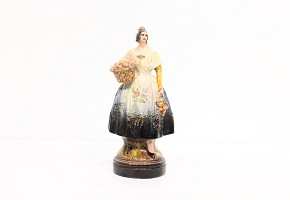 Glazed ceramic sculpture, Antonio Peyró, Fallera, 20th century