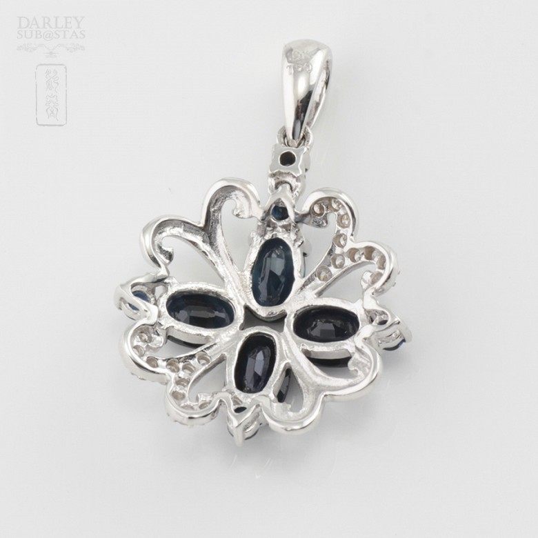 Great pendant sapphires and diamonds - 3