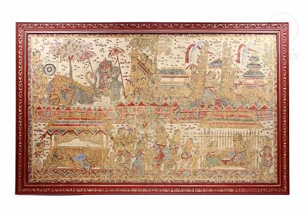 Gran pintura tradicional del templo de Bali, pps.s.XX