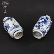 Pareja de jarrones de porcelana china, S.XIX - 2