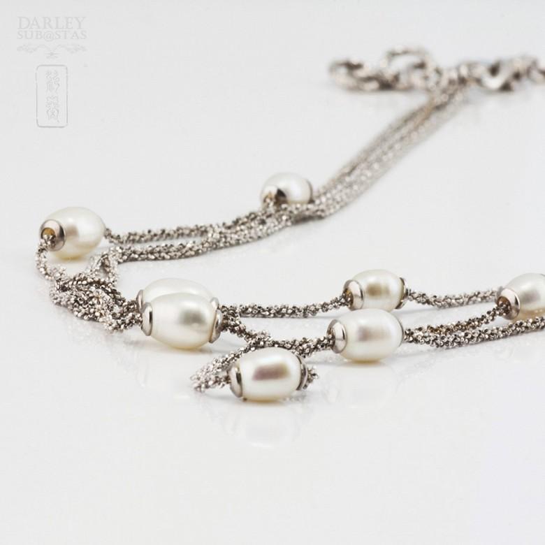 Precioso collar en plata y perlas - 2