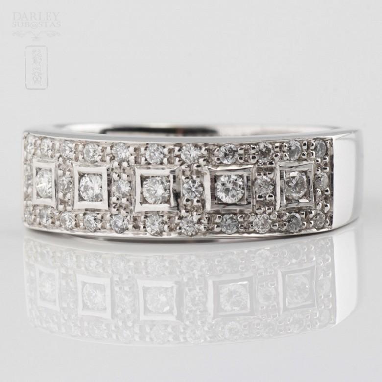 0.46cts beautiful diamond ring and white gold 18k - 2