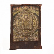 Silk Thangka, 19th century