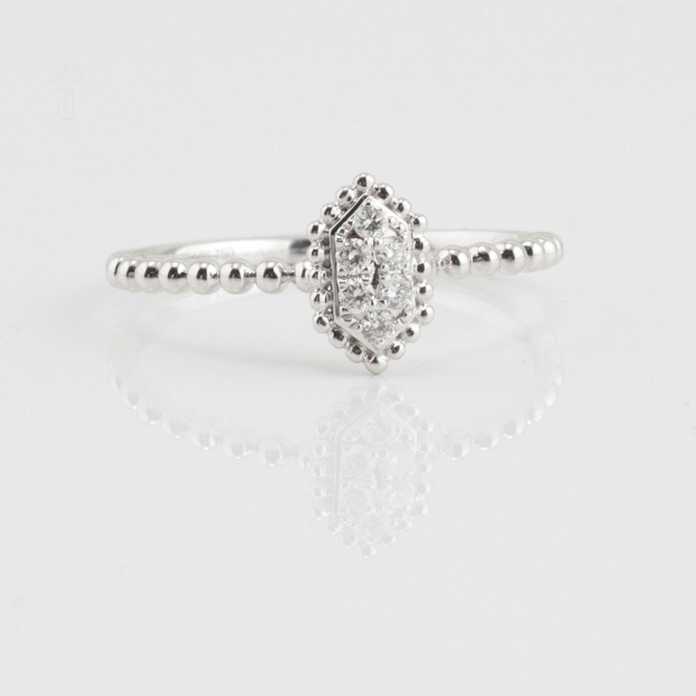 Nice ring 18k white gold and diamonds 0.09cts - 4