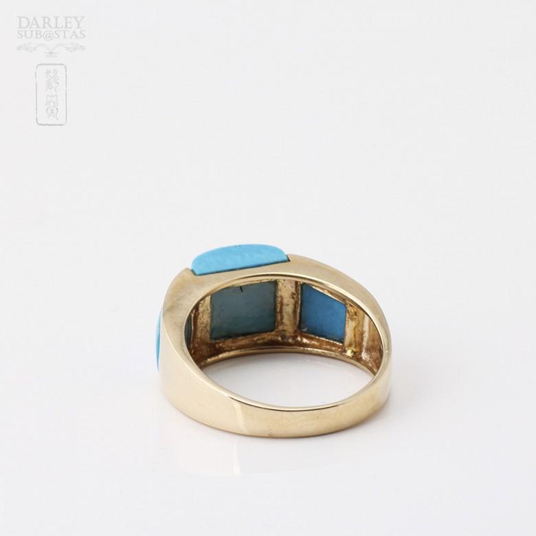 Natural Turquoise Ring 18k - 1