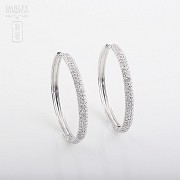 Earrings Zirconia in sterling silver, 925