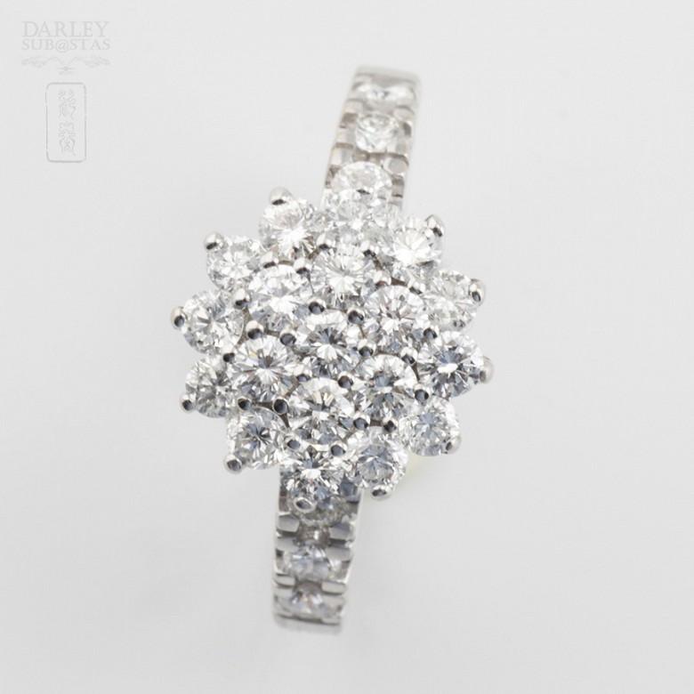 18k白金镶 1.18 克拉鑽石戒子