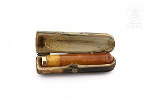 Boquilla de ambar y oro, s.XIX