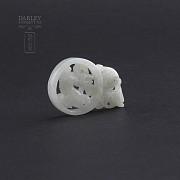 Piece of white nephrite jade - 1