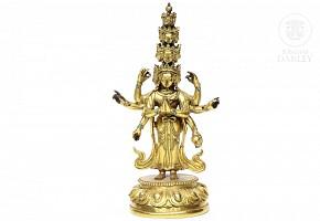 Gilt-bronze figure of
