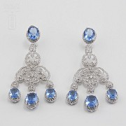 Faller blue dressing and rhodium plated - 2