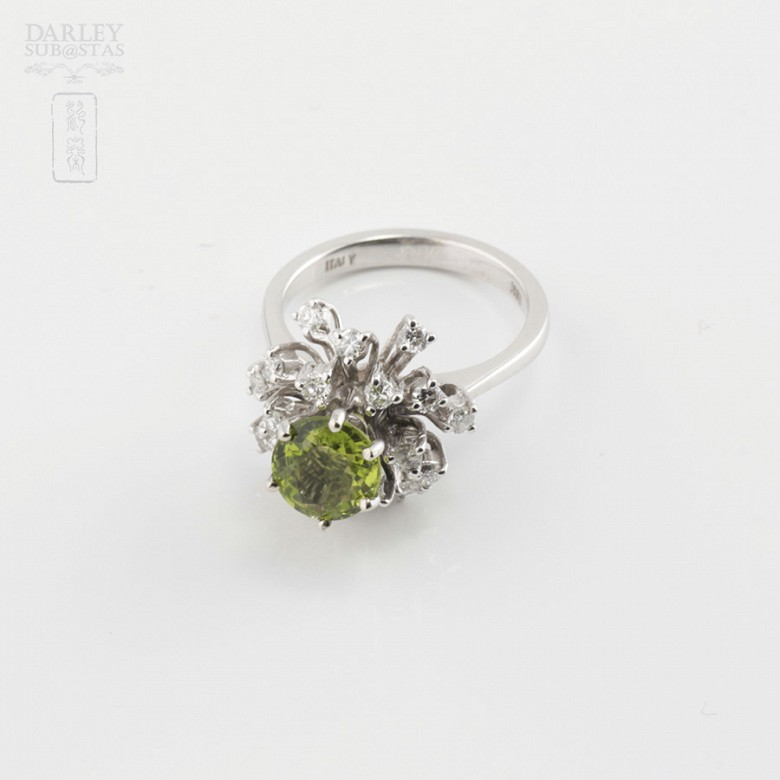 Peridot and Diamond Ring - 2