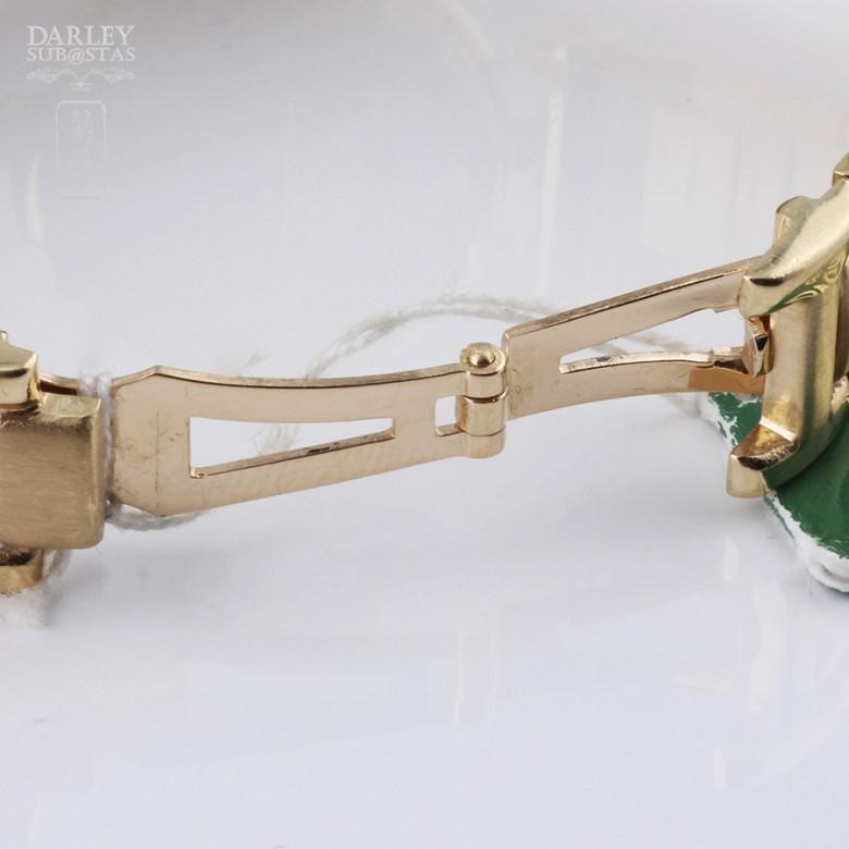 18K 黄金瑞士Dogma 镶钻石女士腕表 - 3