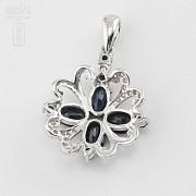 Fantástico colgante zafiros y diamantes - 3