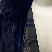 Bonito abrigo de piel de visón  color azul - 1
