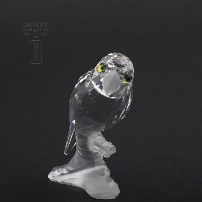 Set of four figures of birds in Swarovski Crystal - 4