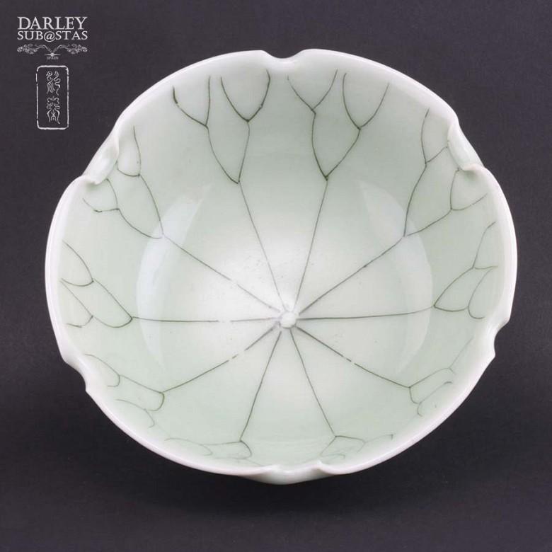 vasija de ceramica verde - 1