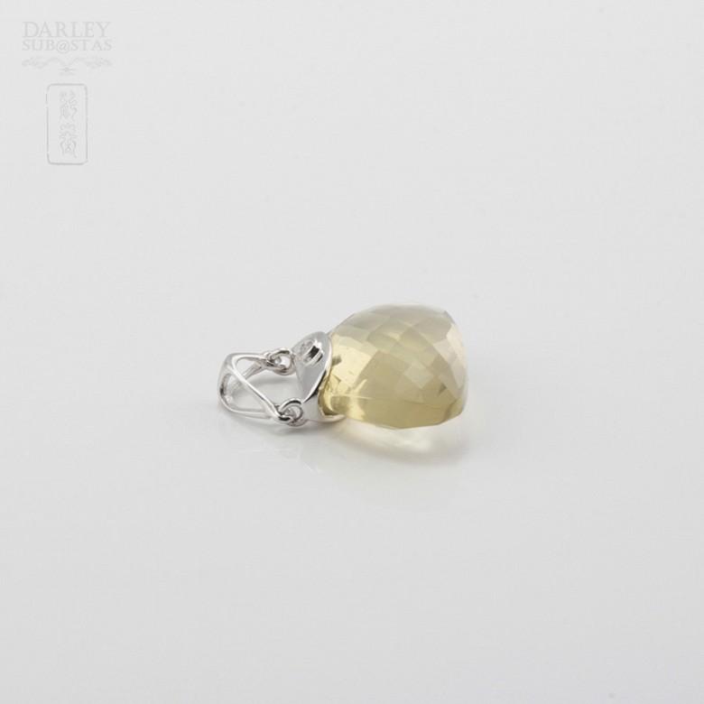 Colgante en oro blanco de 18k y citrino - 2