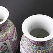 粉彩对花瓶 - 1