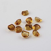 Lot 10 11.50cts citrines honey colored - 3