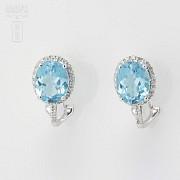 Precious topaz and diamond earrings