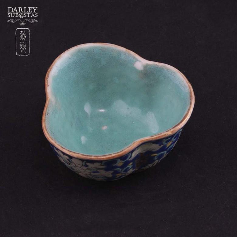 十九世纪彩绘小瓷碟 - 1