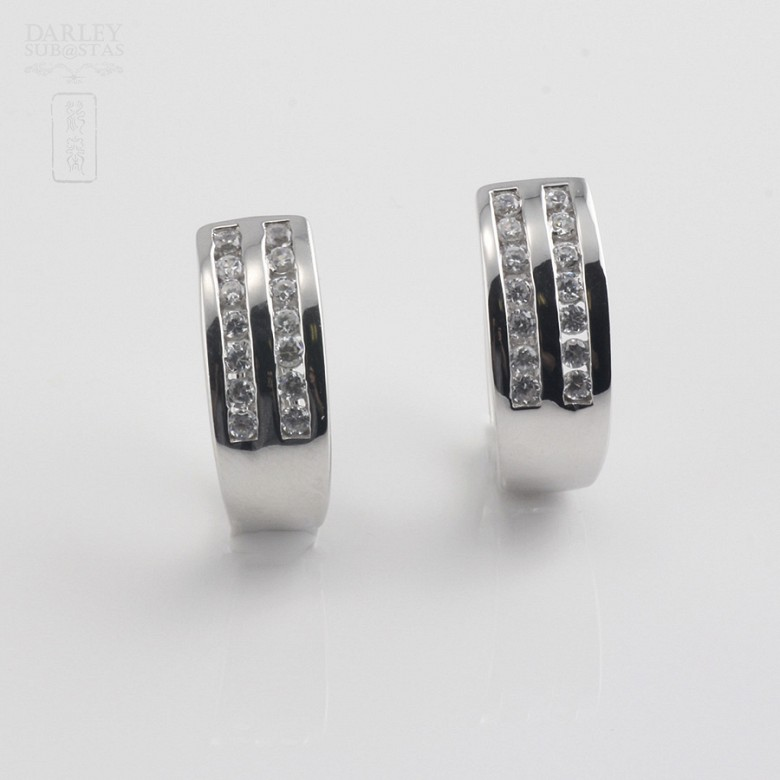 Zirconia earrings in sterling silver, 925m / m